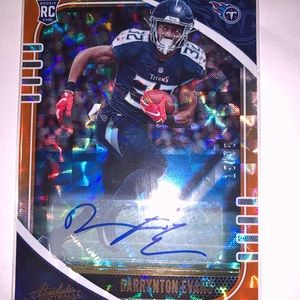 Tennessee Titans autographed card darrynton Evans!